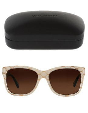 Image 2 ofDolce And Gabanna Gold On Beige Sunglasses