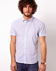 Camisa de corte sartorial de rayas de sirsaca de Paul Smith Jeans