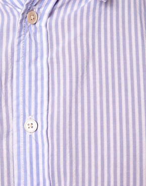 Image 3 ofPaul Smith Jeans Shirt in a Tailored Fit Seersucker Stripe