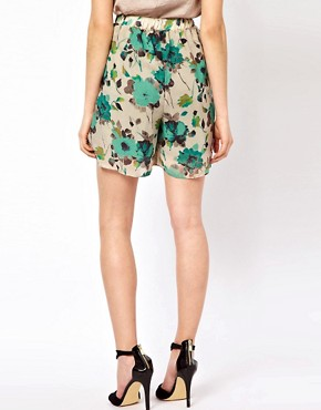Image 2 of Costa Blanca Printed Palazzo Shorts With Front Pleats