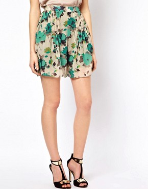 Image 4 of Costa Blanca Printed Palazzo Shorts With Front Pleats