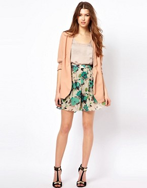 Image 1 of Costa Blanca Printed Palazzo Shorts With Front Pleats