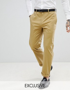Religion Straight Leg Cropped Trousers in Camel