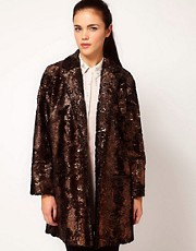 River Island - Cappotto laminato
