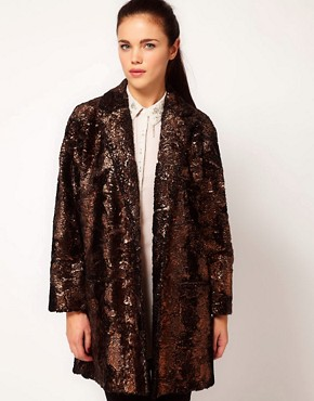 Image 1 ofRiver Island Foiled Coat