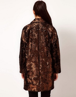 Image 2 ofRiver Island Foiled Coat