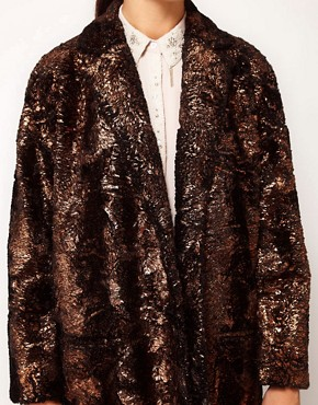 Image 3 ofRiver Island Foiled Coat