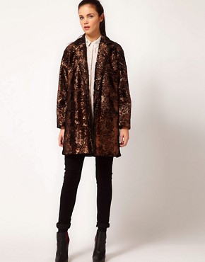Image 4 ofRiver Island Foiled Coat