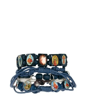 Image 2 ofRiver Island Bead Bracelet Pack