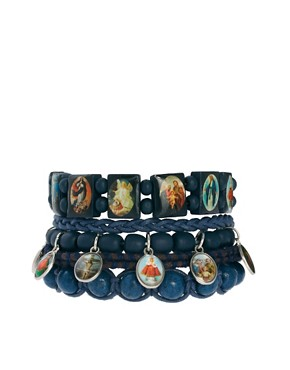 Image 1 ofRiver Island Bead Bracelet Pack