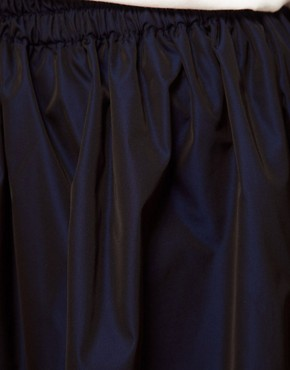 Image 3 ofWhite Tent Full Skirt In Navy Taffeta