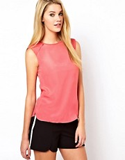 Oasis Shoulder Pad Detail Top