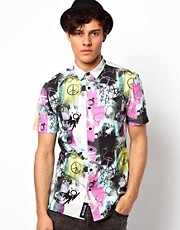Blood Brother Shirt with Neon Peace Sign