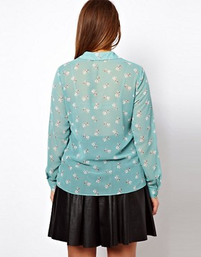 Image 2 ofASOS CURVE Shirt In Heart and Dog Print