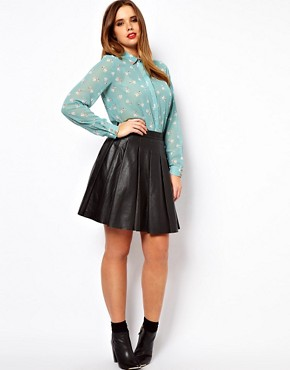 Image 4 ofASOS CURVE Shirt In Heart and Dog Print