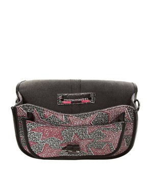 Image 2 ofMaison Scotch Star Print Leather Satchel