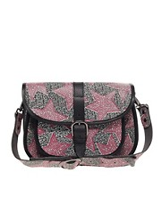 Maison Scotch Star Print Leather Satchel