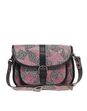 Image 1 ofMaison Scotch Star Print Leather Satchel