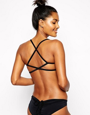 Image 1 ofASOS Mix and Match Moulded Cross Back Triangle Bikini Top