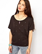 Adidas Logo Studded T-Shirt