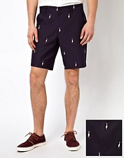 ASOS Skinny Fit Shorts in Embroidery