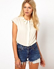 ASOS - Blusa con colletto plissettato