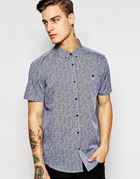 Silver Eight Printed Floral Short Sleeve Shirt