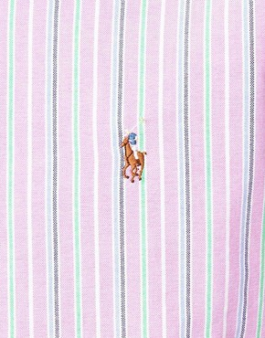 Image 3 ofPolo Ralph Lauren Shirt In Pink Pastel Stripe