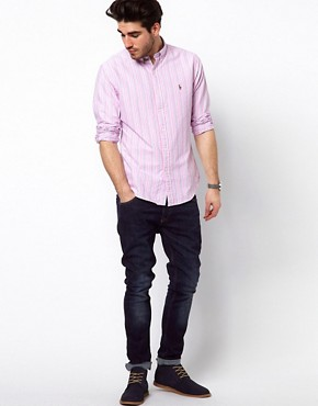 Image 4 ofPolo Ralph Lauren Shirt In Pink Pastel Stripe