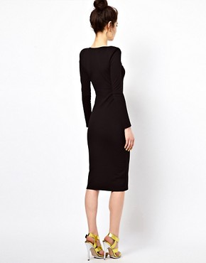 Image 2 ofOh My Love Midi Bodycon Dress with Sweetheart Neckline