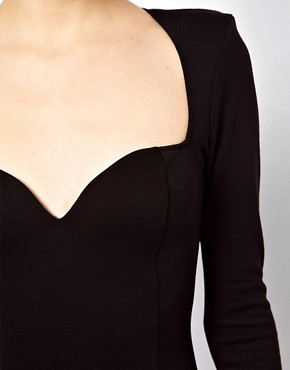 Image 3 ofOh My Love Midi Bodycon Dress with Sweetheart Neckline