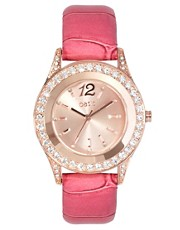 Oasis Pink Strap Watch