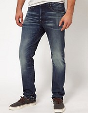 G-Star - Yield - Jeans slim effetto invecchiato medio