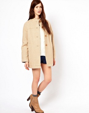 Image 4 ofOasis Herringbone Coat