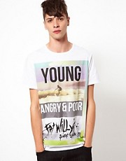 Blood Brother Fat Willy's T-Shirt Angry & Young