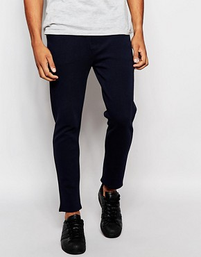 Pull&Bear Chino Joggers in Navy