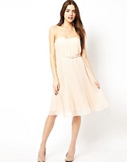 French Connection Strapless Prom Dress