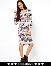 Vero Moda Aztec 3/4 Sleeve Dress
