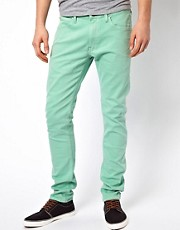 Lee Jeans - Luke - Jeans skinny fit color verde ghiaccio