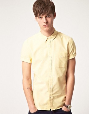 Image 1 ofASOS Short Sleeve Oxford Shirt