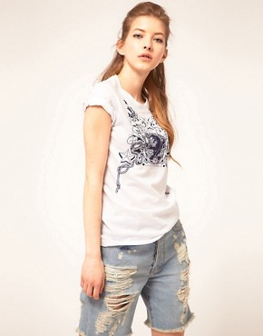 Image 1 ofSISTER by SIBLING Tattoo Print T-Shirt