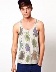 ASOS Tank With Beetle Print