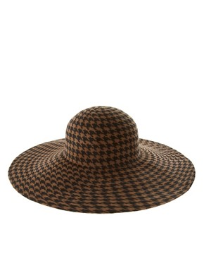 Image 2 ofASOS Premium Dogstooth Print Floppy Hat