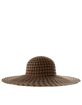 Image 4 ofASOS Premium Dogstooth Print Floppy Hat