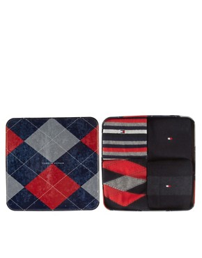 Image 1 ofTommy Hilfiger Mixed 4 Pack Gift Socks