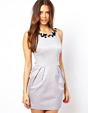 Lipsy Embellished Neck Egg Dress