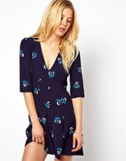 ASOS Teadress Playsuit in Floral Print