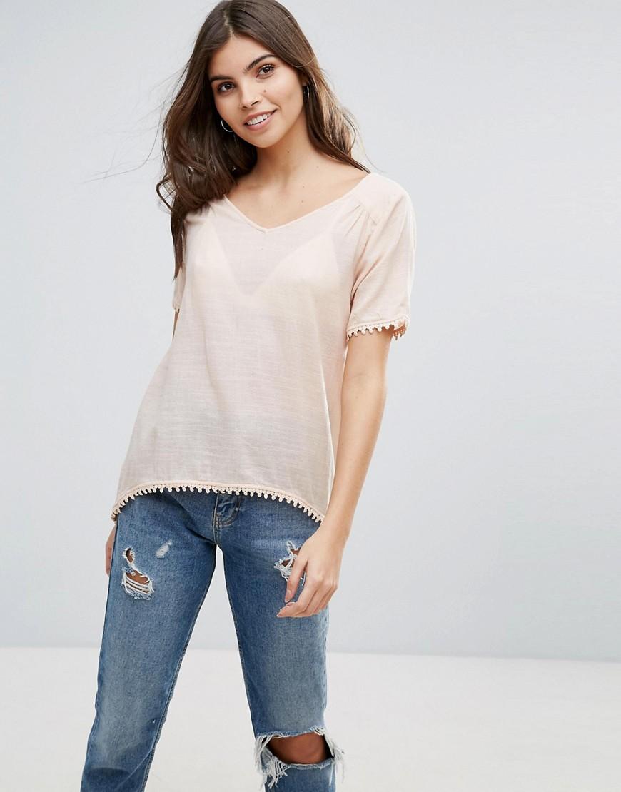 Vila Split Back T-Shirt - Pink