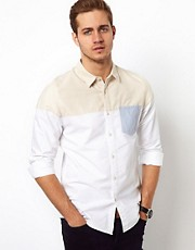 ASOS Oxford Shirt With Contrast Panel
