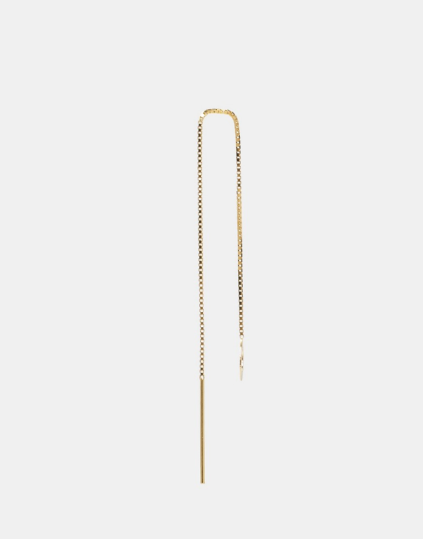 Image 3 of ASOS Gold Plated Sterling Silver Open Circle Chain Earrings